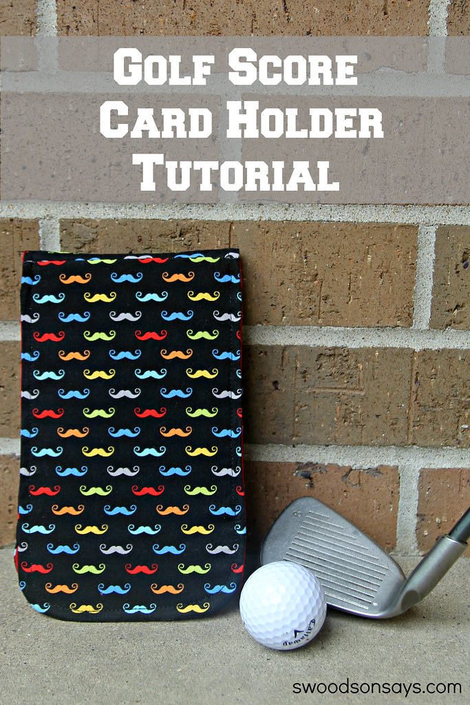 DIY Golf Score Card Holder Tutorial - Swoodson Says
