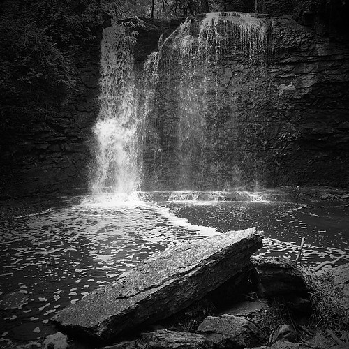 columbus ohio bw white black nature monochrome square waterfall falls squareformat hayden preserve griggs iphoneography instagramapp uploaded:by=instagram foursquare:venue=4b94373bf964a520266f34e3