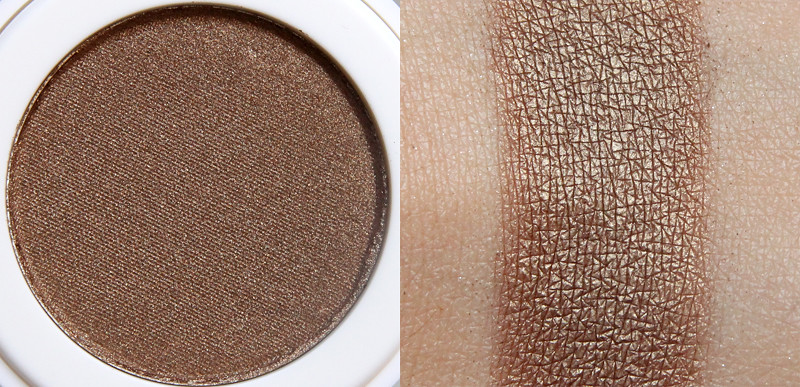 Lily Lolo brassed off pressed eye shadow swatch