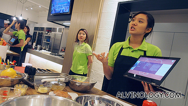 Lenovo new devices media preview in a cooking workshop