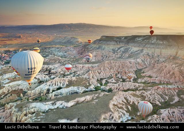© Lucie Debelkova /... - Turkey - Cappadocia - UNESCO World Heritage Site - Gu00f6reme National Park - Spectacular volcanic surrealistic landscape