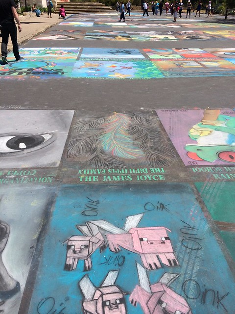 Santa Barbara Mission Chalk Art