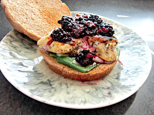 Brie & Blackberry Chicken Sammich 2