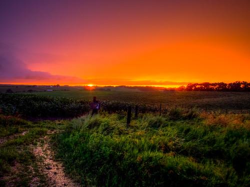 Storm Chasing Sunset