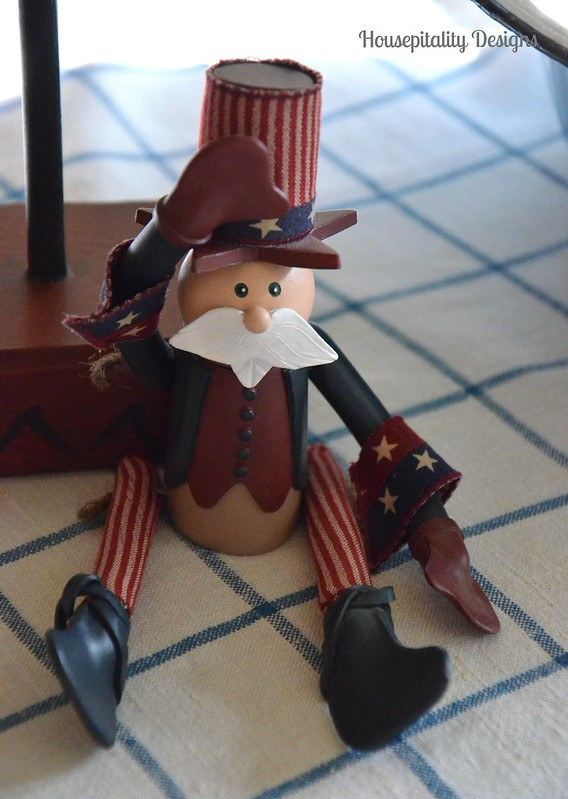 Folk Art Uncle Sam Bunny