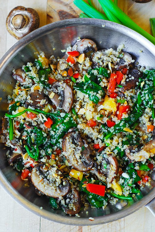 Quinoa with vegetables, quinoa recipes, vegetarian recipes