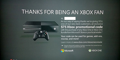 Get $75 when you upgrade to Xbox One
