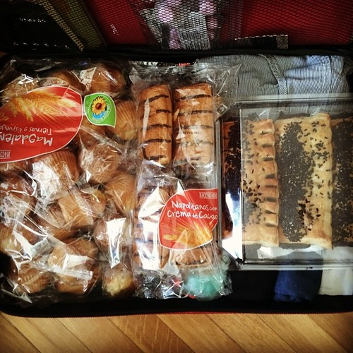 Pastry-filled suitcase