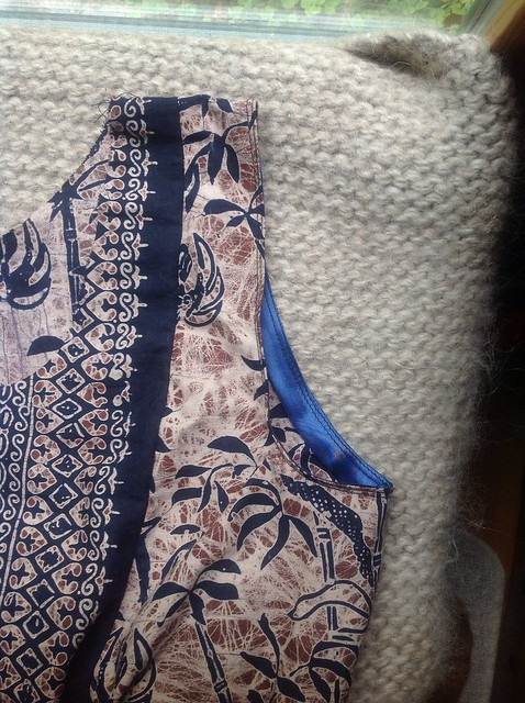 Dress from a tube shaped with shirring