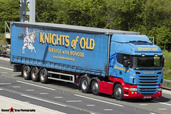 Scania R440 Tractor with 3 Axle Curtainside Trailer - KF62 KOO - 629-44 - Sir Florence - Knights of Old - M1 J10 Luton - Steven Gray - IMG_9259