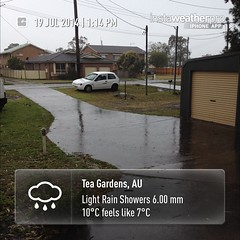 Cold today - and wet #instaweather #instaweatherpro #weather #wx #sky #outdoors #nature #world #love #beautiful #instagood #fun #cool #life #nice #teagardens #australia #day #winter #cold #au