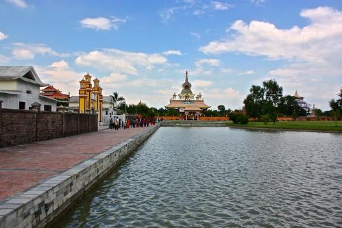 temple complex in Lumbini