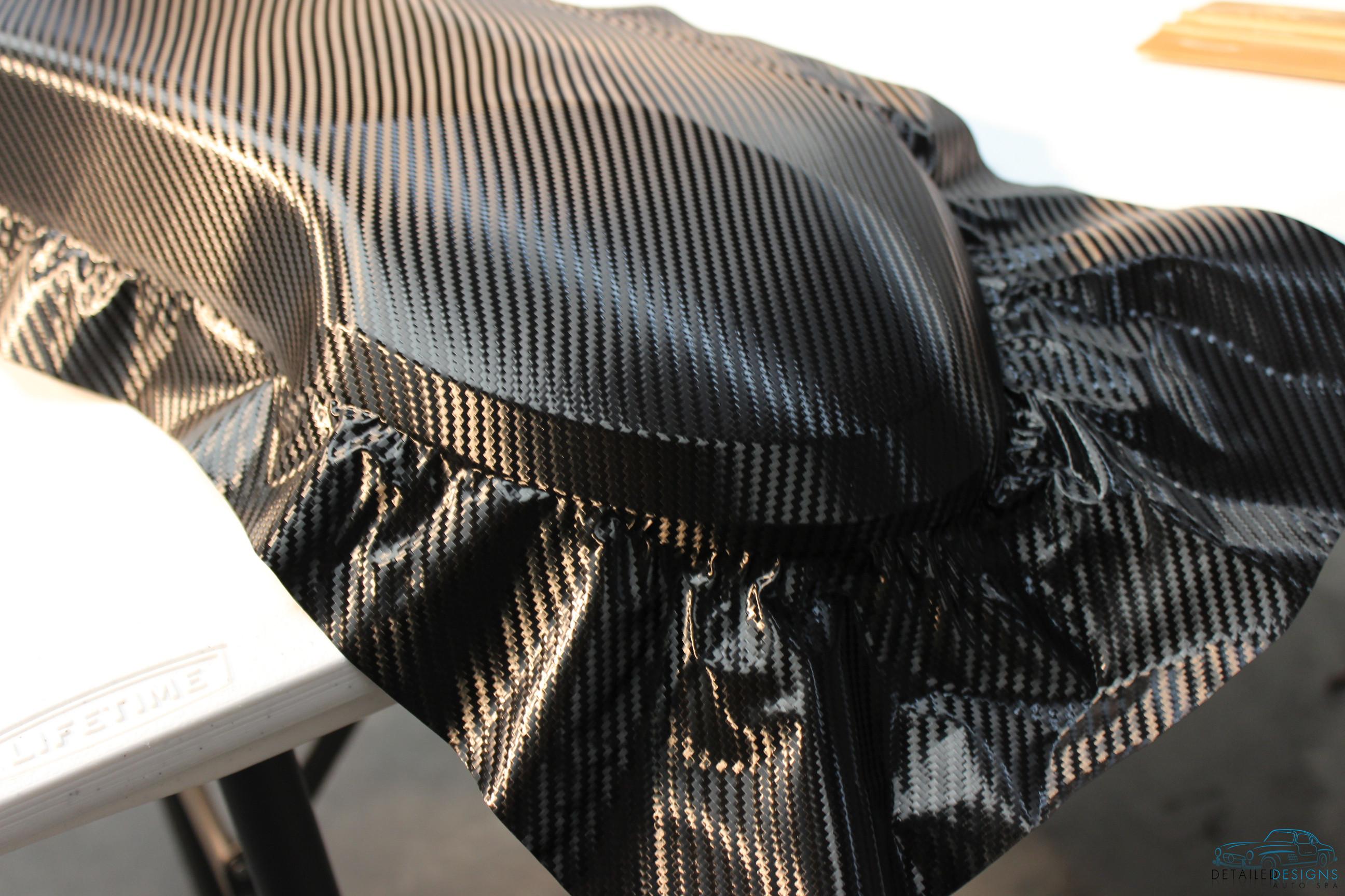 Tesla model s m carbon fiber vinyl nose cone wrap