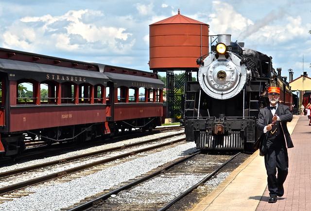 Train coming in - Strasburg Railroad PA