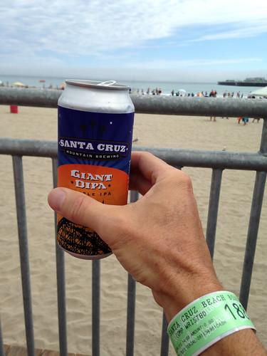 Enjoying Santa Cruz boardwalk...