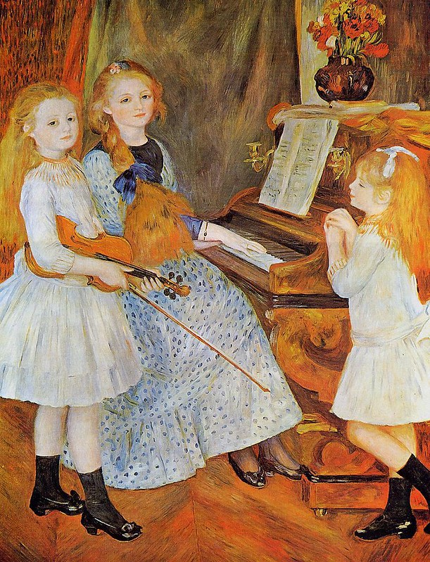 The Daughters of Catulle Mendes by Pierre Auguste Renoir, 1888