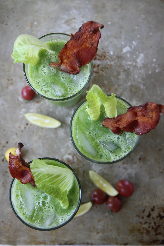 Spicy Green BLT Bloody Mary