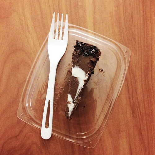 And of course a slice of @chocolatree raw chocolate cake to take away. Perfect. #vscofood #vsco #travel #jjupandaway