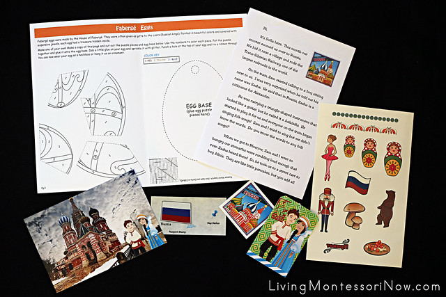Contents of the Little Passports Russia Package