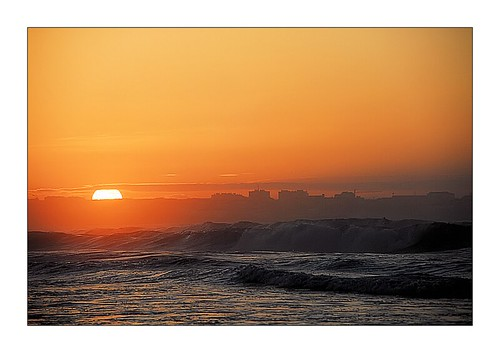 sunset over peniche