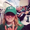 Enjoying the sun and the Rider game after a long week of moving and opening boxes! Thanks Jacquie and Jeff for the tickets!