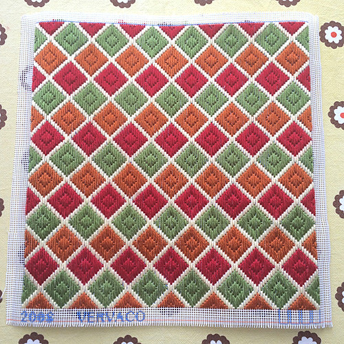 Finished bargello long stitch