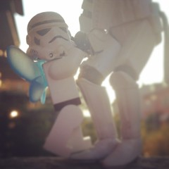 Lift me up... #starwars #stockholm #stormtrooper #lego #backlight #dance #minifig #summer