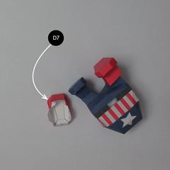 วิธีทำของเล่นโมเดลกระดาษกับตันอเมริกา (Chibi Captain America Papercraft Model) 025