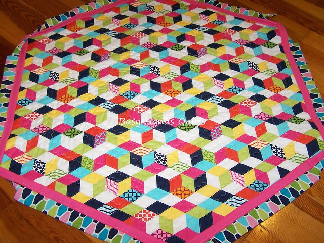 Quilted Drawstring Play Mat / Toy Bag