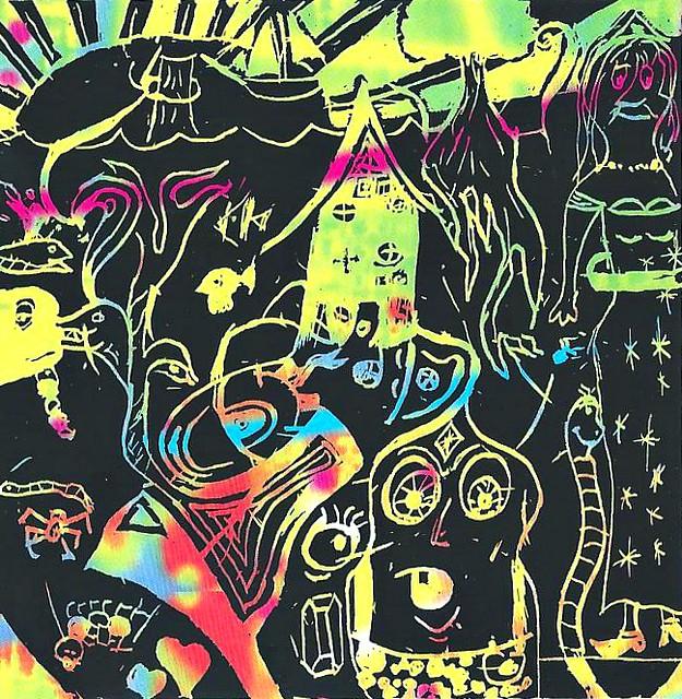 Kunst auf Regenbogenpapier