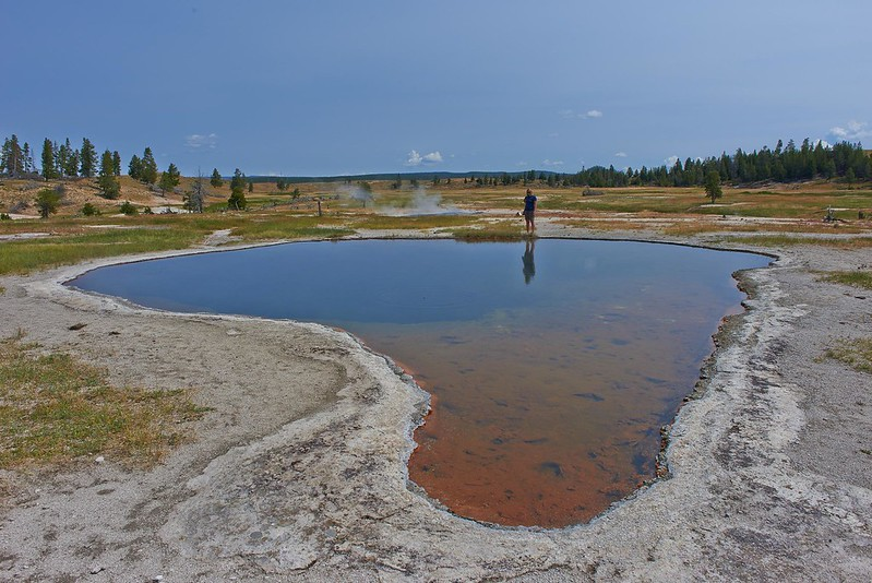 Reflections in Hot Spring - Yellowstone National Park