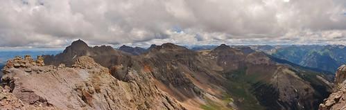 Mt Sneffels, Gilpin Peak, Mt Emma from Dallas Peak