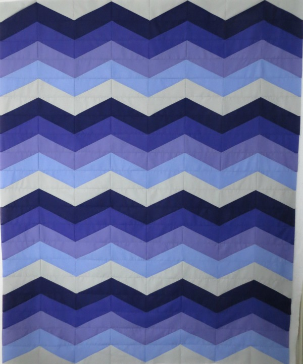 completed Waves quilt top