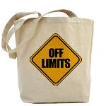 off_limits_sign_tote_bag