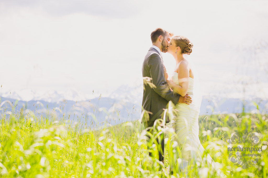 Wedding Photos in the Hay Field - Smithers BC