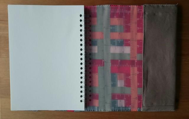 cross stitch book cover inside