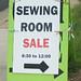 Sewing Room Sale 2014