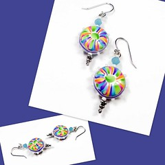 polymer clay Colorburst Earrings