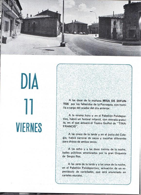 Programa Fiestas de San Lorenzo Año 1978