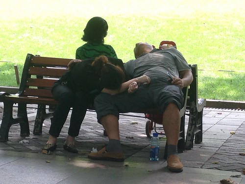 Summer Nap in Jing'an Park