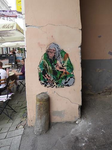 Stencil beggar