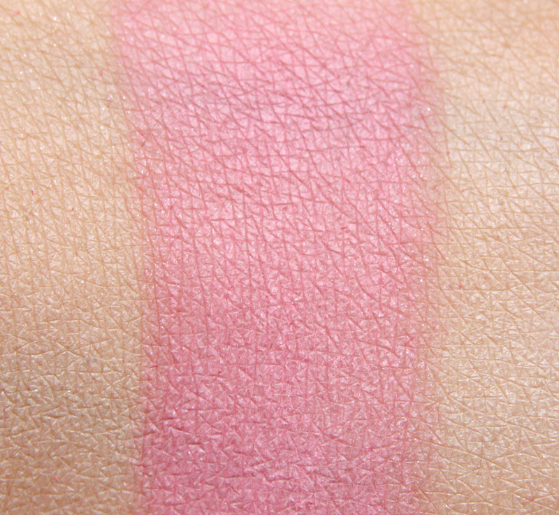 MAC pink sprinkles powder blush swatch