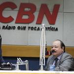 Bastidores da entrevista concedida à rádio CBN