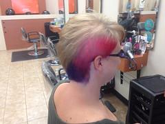 hairstyle, hairdresser, hair, ear, blond, hair coloring,