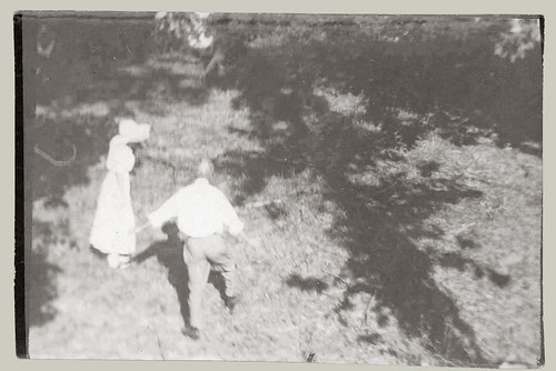 Couple in woods.