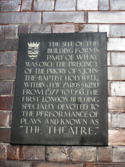 Photo of The Theatre, Shoreditch brown plaque