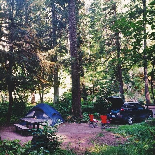 La Wis Wis Campground in Rainier...