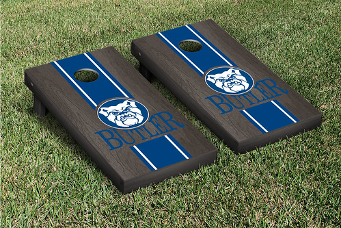 Butler University Bulldogs Cornhole Game Set Onyx Stained Stripe Version