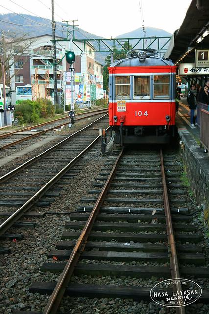 Hakone Tozan Railway, Gora to Hakone-Yumoto, Kanagawa, Japan