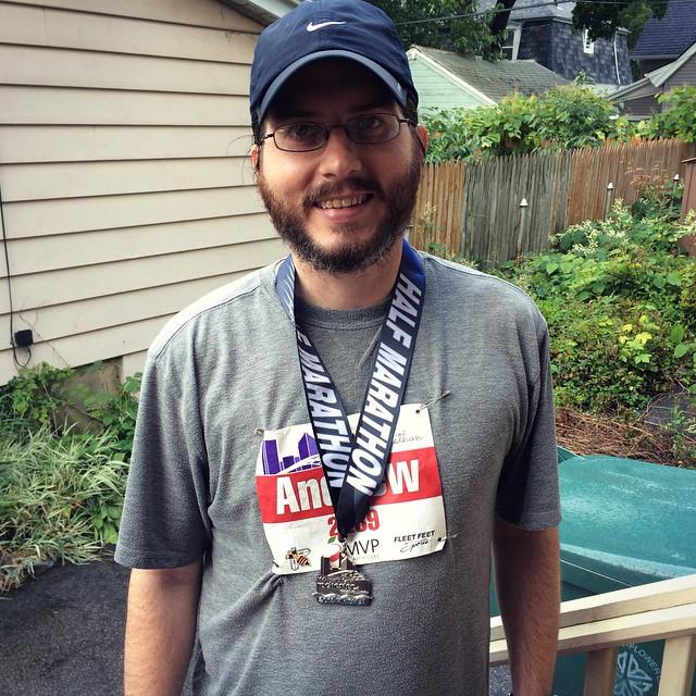 He ran a half marathon!